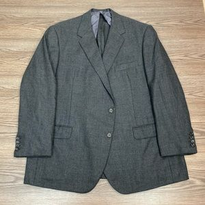 Oxxford Clothes Solid Charcoal Grey Blazer 50R